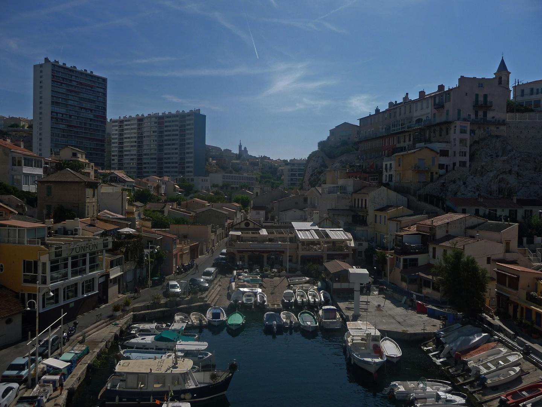 Versteckte Bucht in Marseille