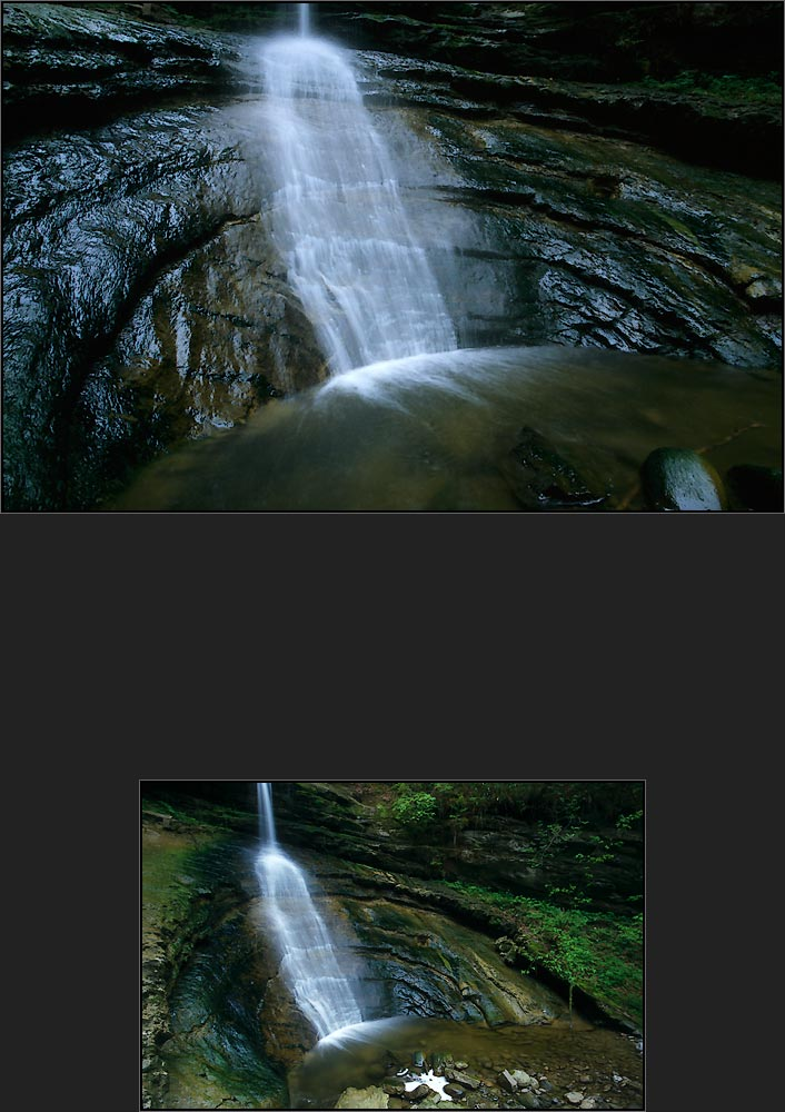 Versteckter Wasserfall