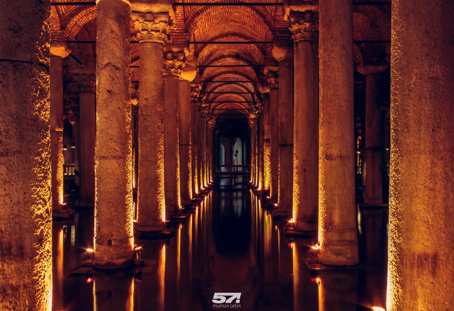Versunkener Palast in Sultanahmet Istanbul