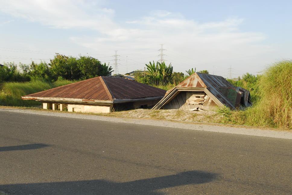 versunkenes Haus in Bacolor