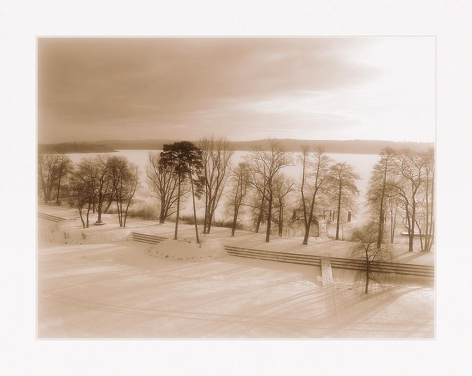 Verträumte Winterlandschaft ...