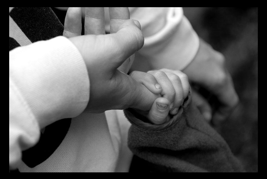 ...Vertrauen der kleinen Hände...