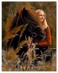 Vertrautheit zwischen Pferd und Mensch