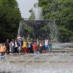 Verwaschenes Gruppenbild