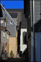 verwinkelte Ecke in der Altstadt in Siegen