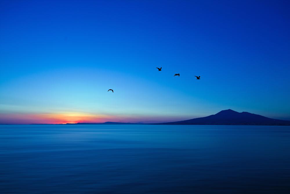 Vesuv im Sonnenuntergang 2