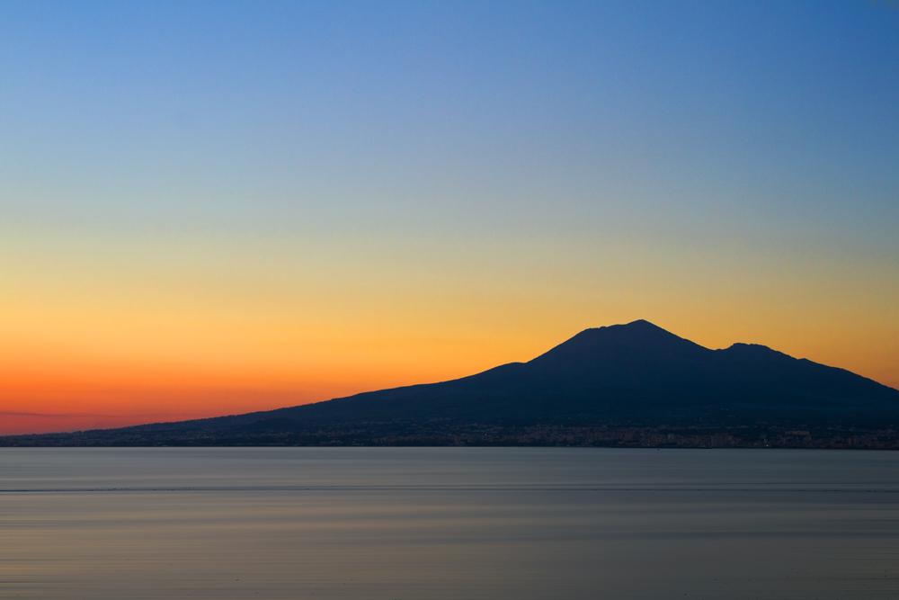 Vesuv im Sonnenuntergang
