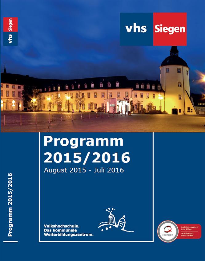 VHS-Heft 2015/2016