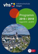 VHS-Siegen Heft-Cover 2018/2019