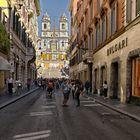 Via Condotti - Spanische Treppe - Roma -Scalinata di Trinità dei Monti