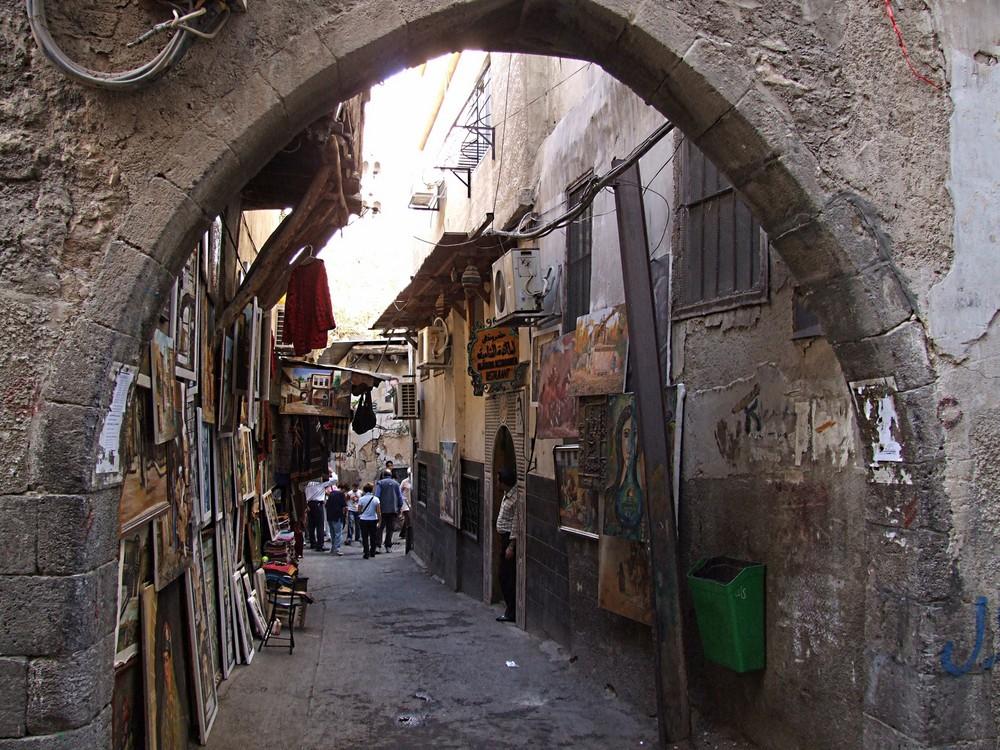 Vicolo nel centro di Damasco