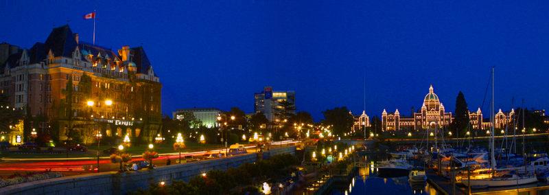 Victoria Harbor at night