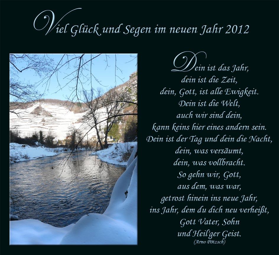 Viel Glück und Segen im neuen Jahr 2012 Foto & Bild | karten und ...
