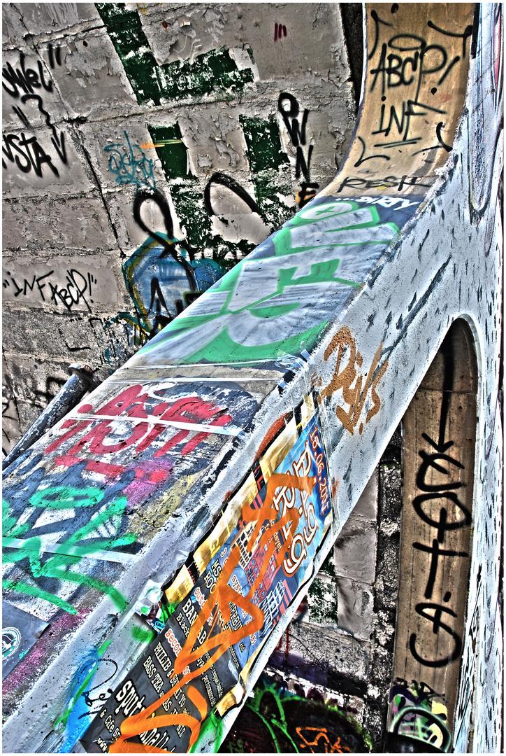 Viel Graffiti im Hawerkamp