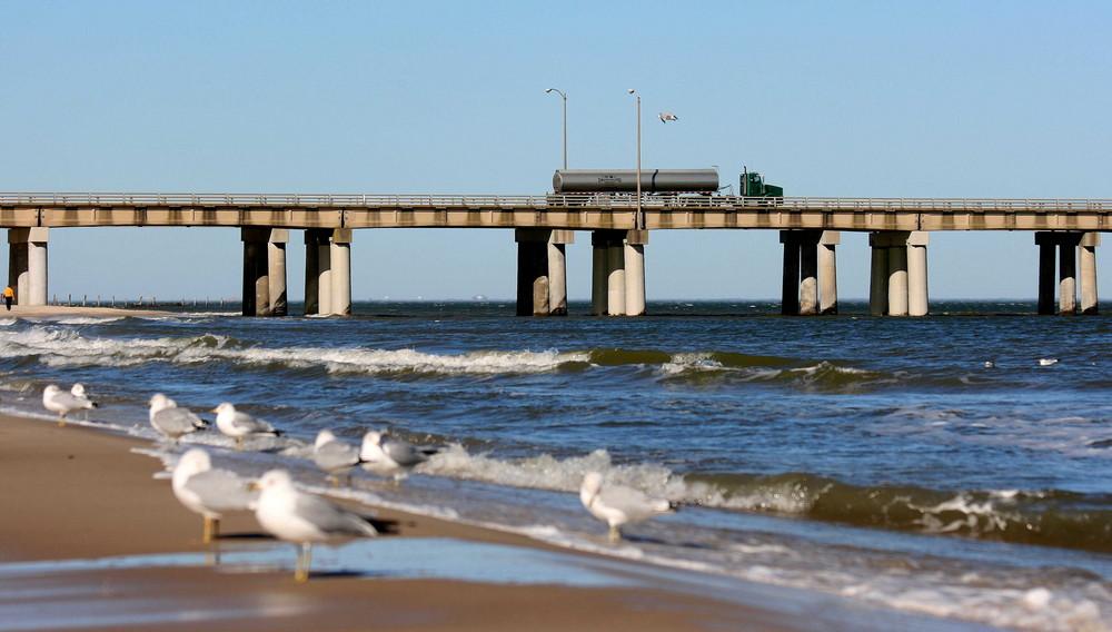 Viel Verkehr an der Chesapeake-Bay-Bridge