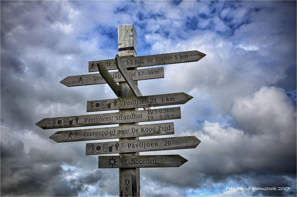 viele Wege führen durch Texel ...