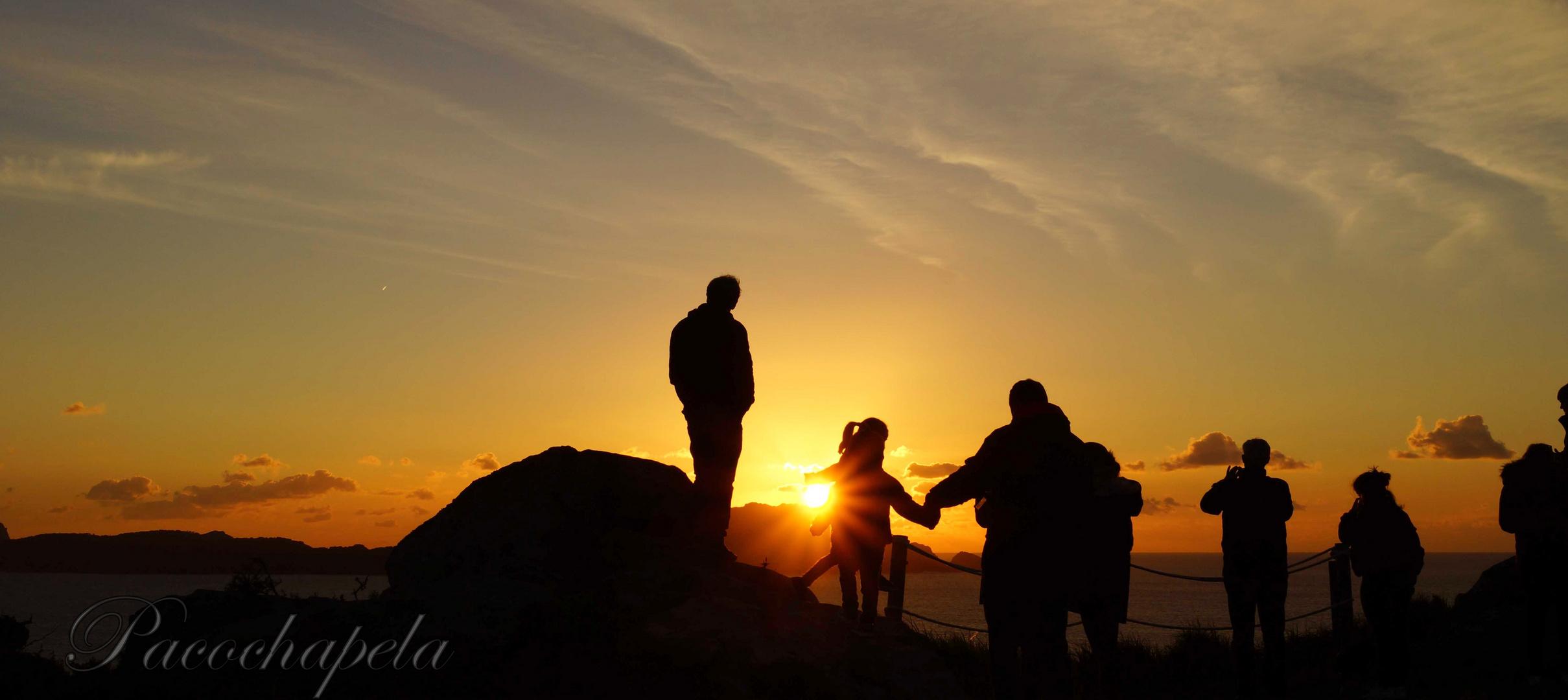 Viendo la puesta de Sol