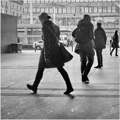 Vier Frauen in der Stadt