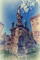 Vier-Röhren-Brunnen Würzburg - HDR