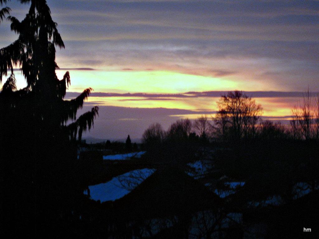Vierter Advent in Idyllistan - Sonnuntergang