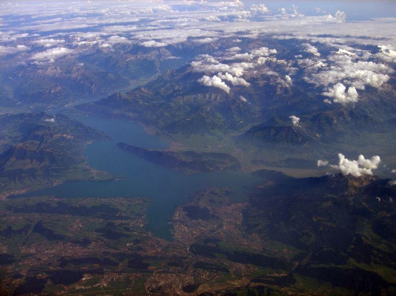 Vierwaldstättersee mit Luzern, Bürgenstock, Alpen
