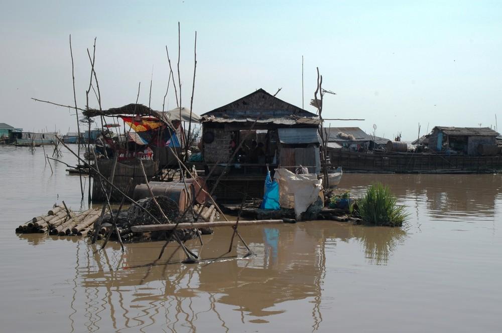 Vietnamiesische Dorf des Tonlé Sap-Sees 2