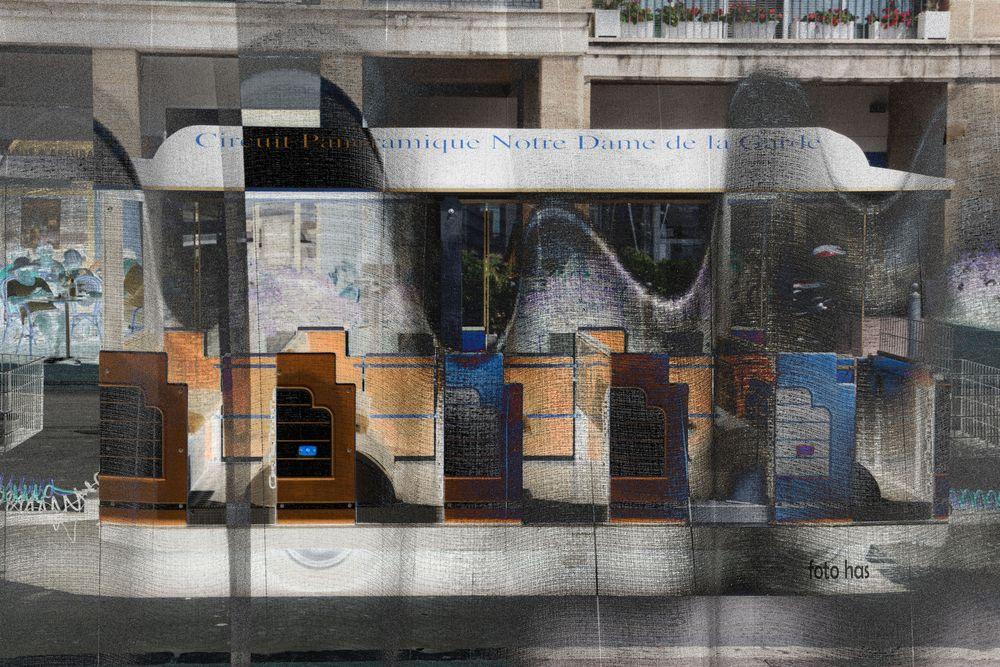 Vieux Port Marseille, artists impression