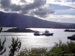 View from A87 upon Loch Alsh and the Isle of Skye