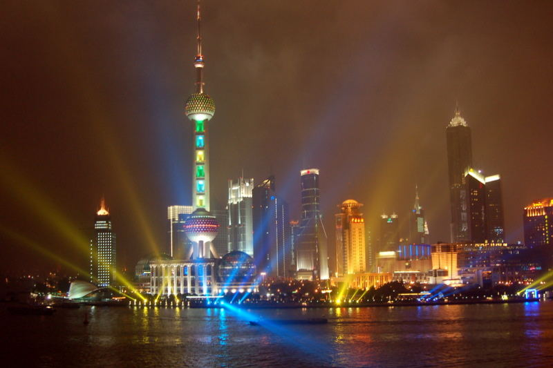View from Bar Rouge in Shanghai