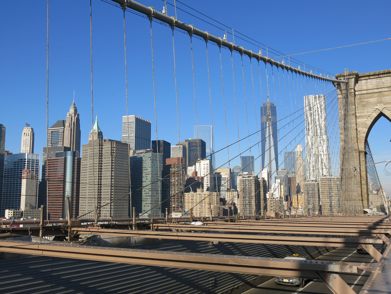 View From Brooklyn Bridge To Manhatten