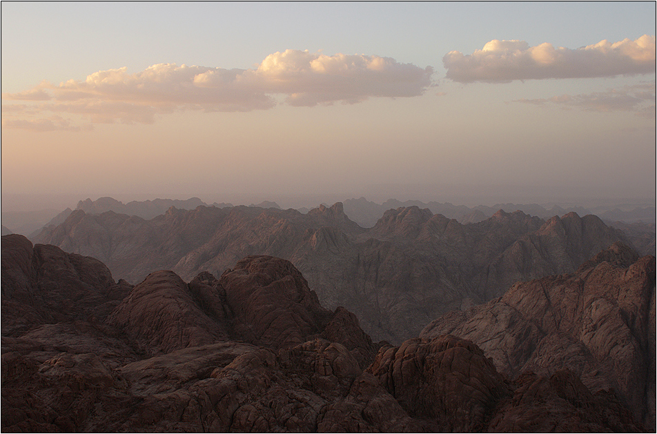view from gebel musa