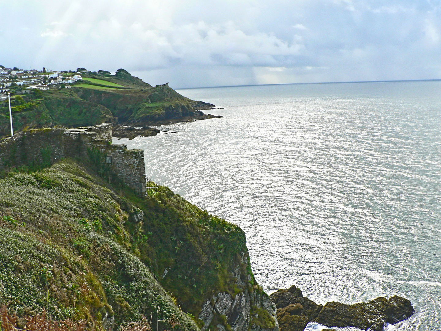 View from St. Catherine's Castle to Fowey