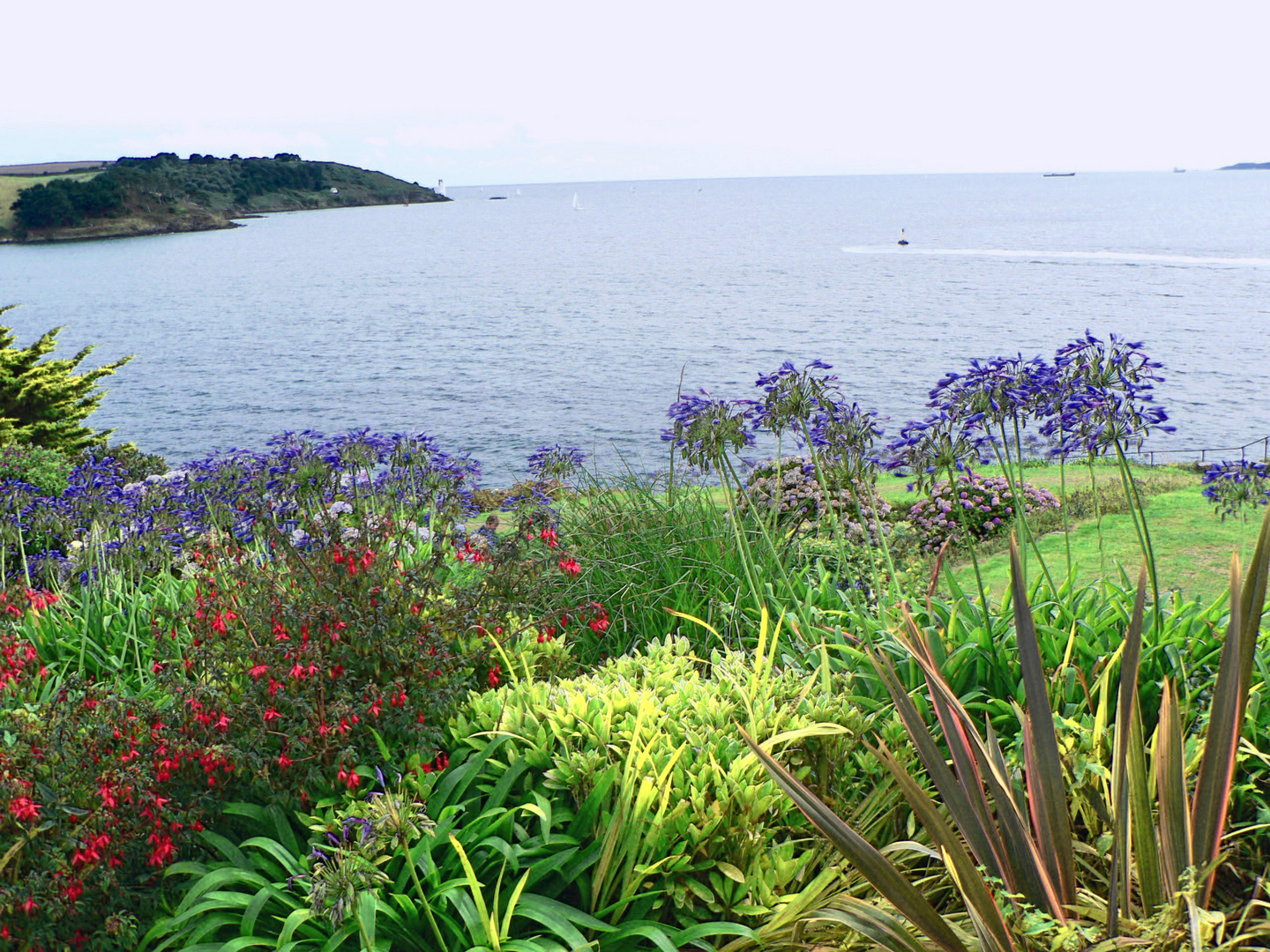 View from St. Mawes Castle over the Gerrans Bay