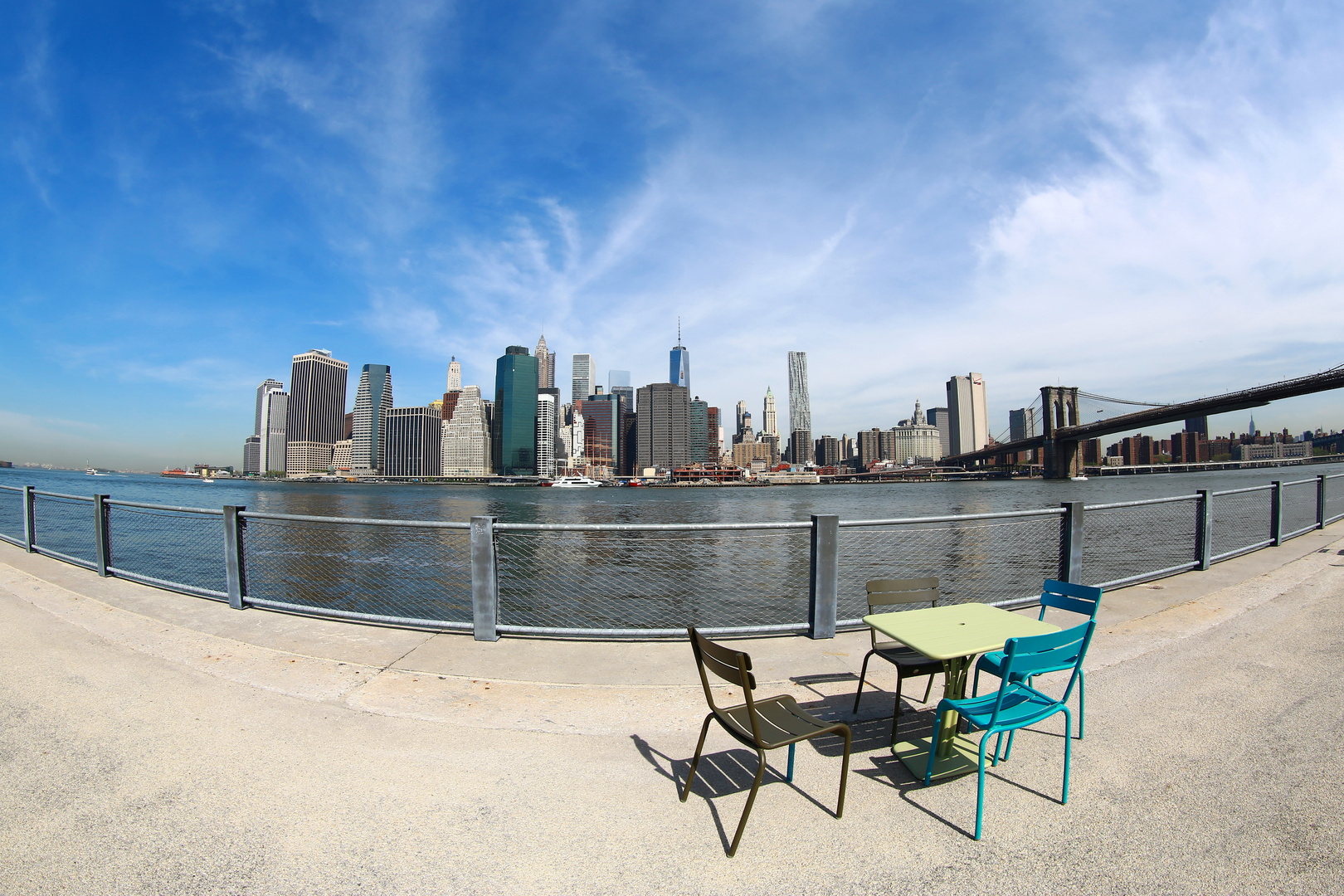 VIEW FROM THE NEW (BROOKLY-BRIDGE-PARK)