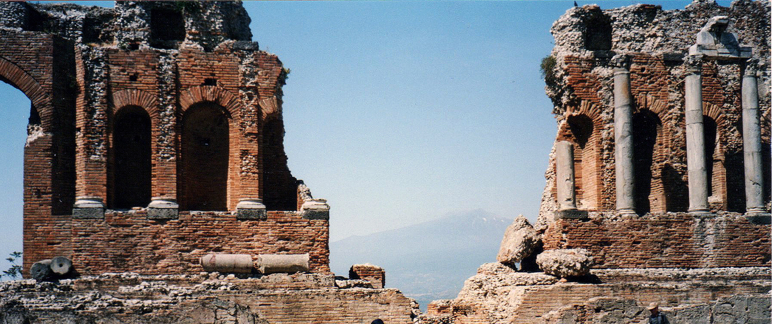 VIEW OF MOUNT ETNA FROM TAORMINA, SICILY