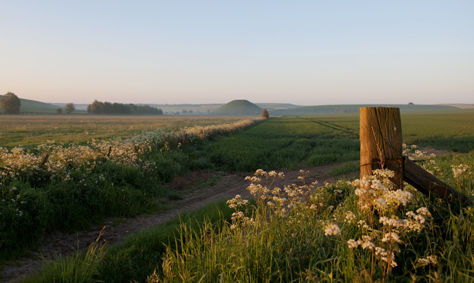 View of Silbury Hill from Avebury