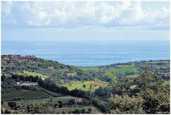 View of the Adriatic sea from the hills