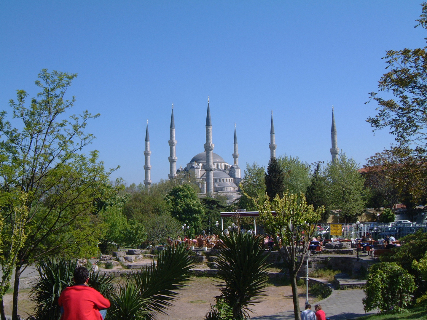 View on the Blue Mosque from Sultan Ahmet Park