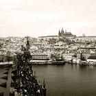 view over Karl's Bridge and Mala Strana
