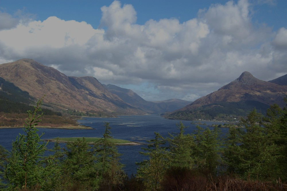View over Loch Leven and the Pap of Glencoe, Highlands, Scotland