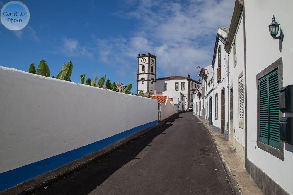 Vila Franca do Compo Azoren Blick aufs Rathaus