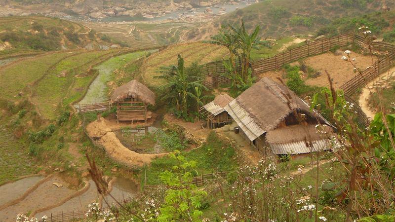 Village dans la région de sapa