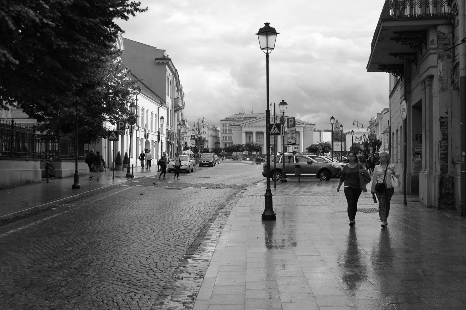 Vilnius nach dem Regen