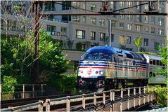 Virginia Railway Express Commuter Train on Maine Avenue Bridge