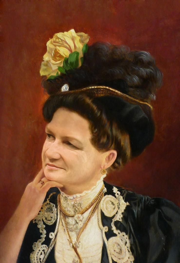 Virtuelles Reenactment - Damenportrait