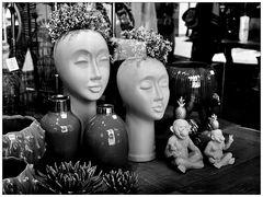 Visages zen en fleur