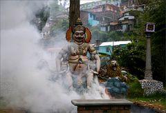 Vishnu im Rauch
