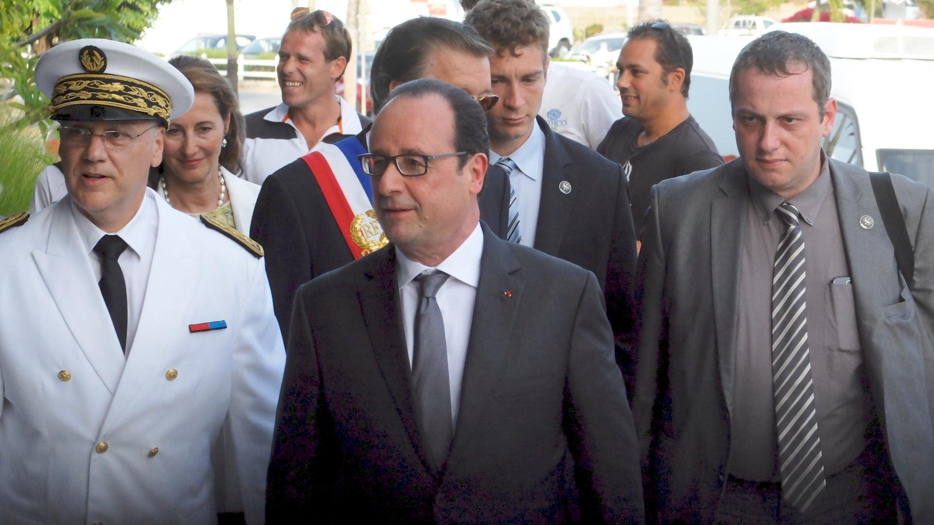 visite de François Hollande à St Barth
