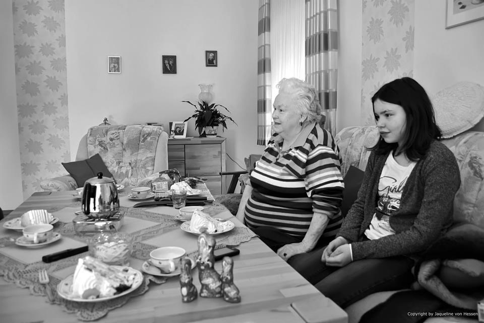 visiting grandma - sunday afternoon