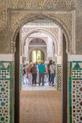 Visitors in the Alcazar of Seville